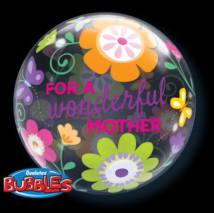 56CM FOR A WONDERFUL MOTHER BUBBLE BALLOON