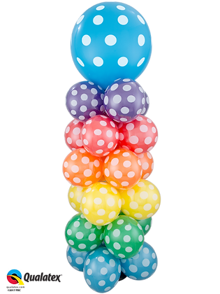 Polka-Dot Rainbow Column