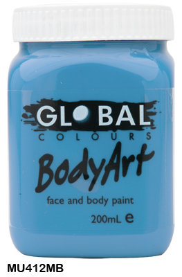 GLOBAL COLOURS MURF BLUE FACE PAINT 200ML