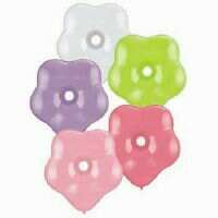LATEX GEO BLOSSOMS 15CM PASTEL BALLOON MIX /10