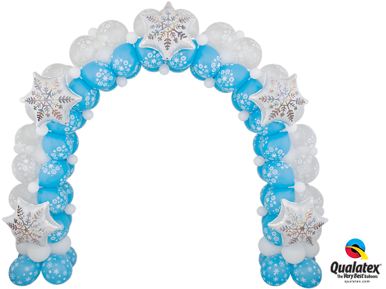 SPARKLING SNOWFLAKE ARCH