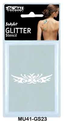 GLITTER STANCIL - FLOWER BAND