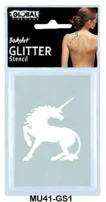 GLITTER STENCIL - UNICORN