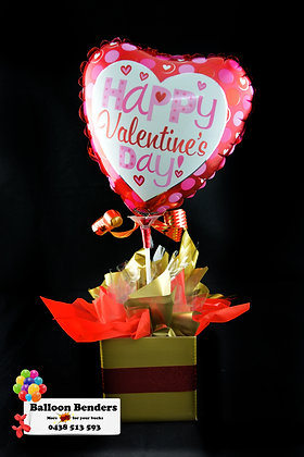 A HAPPY VALENTINES DAY POLKA-DOT LOVE BOX BOUQUET