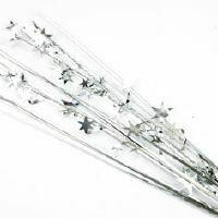 SPANGLE STAR SPRAY - SILVER