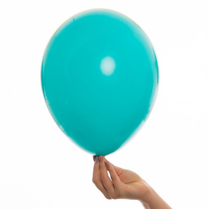 Tropical Teal 11 inch Latex Party Balloons