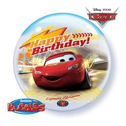 56CM CARS DISNEY HAPPY BIRTHDAY BUBBLE BALLOON