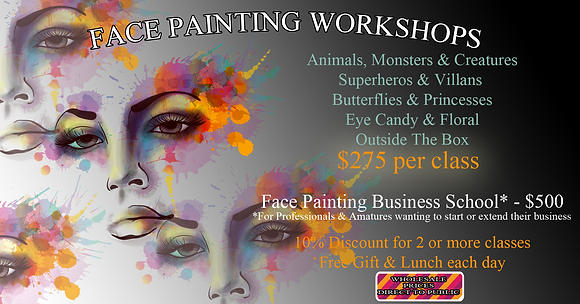 FACEPAINT WORKSHOPS: TOWNSVILLE