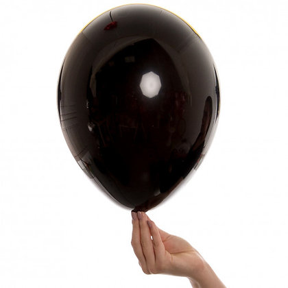 Onyx Black 11 inch Latex Party Balloons