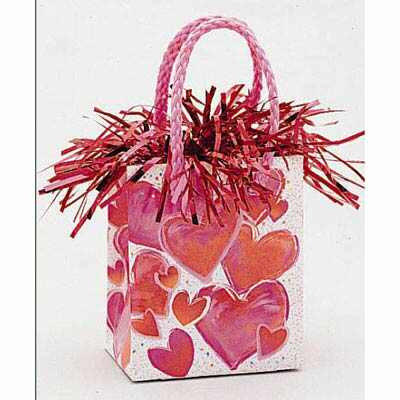 GIFT BAG BALLOON WEIGHT - HEARTS