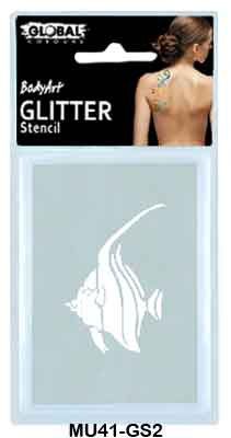 GLITTER STENCIL - TROPICAL FISH