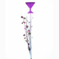 ONION GRASS MARTINI GLASS  SPRAY - PURPLE