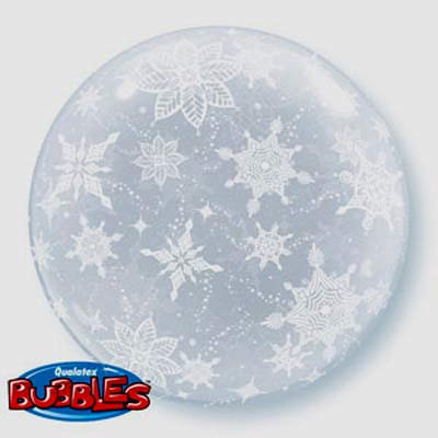 51CM SNOWFLAKES DECO BUBBLE BALLOON