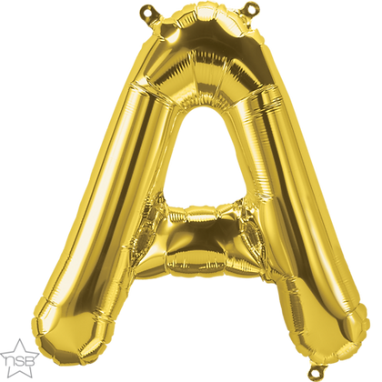 "16"" (41cm) North Star Air-Filled Gold Letter - A"