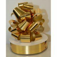 PULL STRING BOW 12PK - METALLIC GOLD