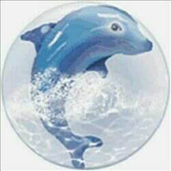 61CM DOLPHIN DOUBLE BUBBLE BALLOON