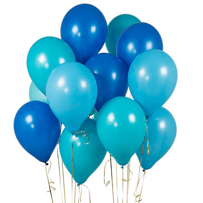 Peacock Blue Latex Party Balloons - 14 Pack