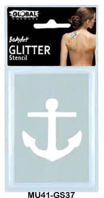 GLITTER STENCIL - ANCHOR