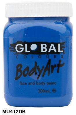 GLOBAL COLOURS DEEP BLUE FACE PAINT 200ML