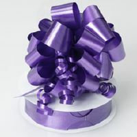 PULL STRING BOW 12 PK - PURPLE