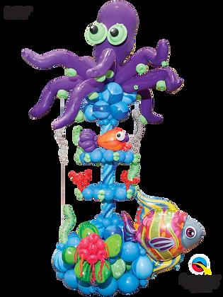 Under the Sea Octopus Column