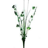 ONION GRASS SHAMROCK SPRAY - GREEN WHITE