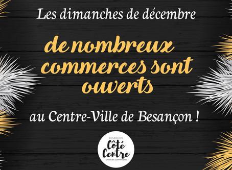 Vos boutiques sont ouvertes les dimanches de décembre !