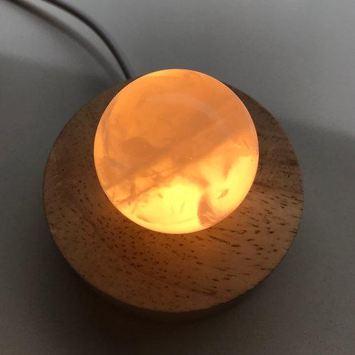 Rose Quartz sphere lamp