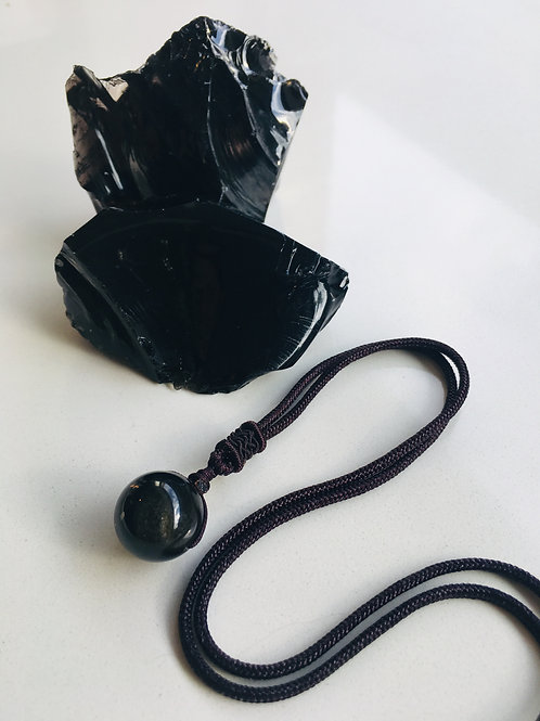 Golden Obsidian necklace - Balance, Personal Power, Insight