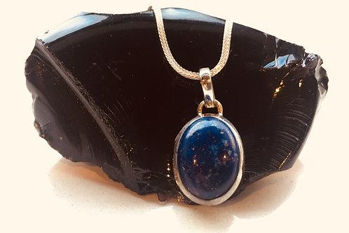 Lapis Lazuli Silver Pendant - The Universal Wisdom Stone