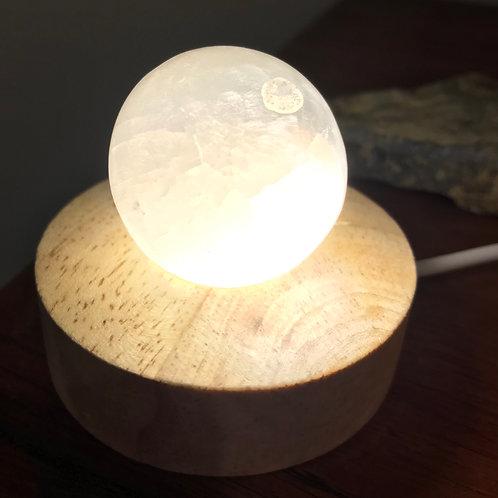 Small Selenite sphere lamp
