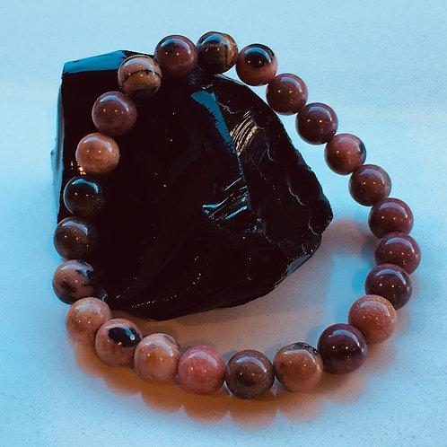 Rhodonite Bead Bracelet