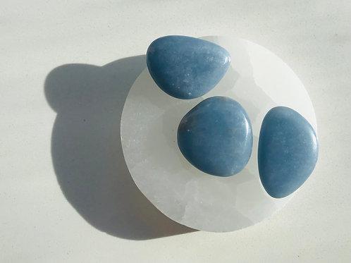 Angelite smooth stone