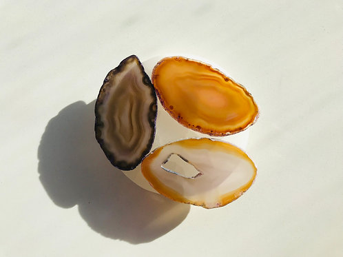 Small agate slabs