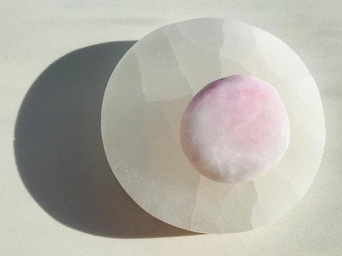 Pink Aragonite smooth stone