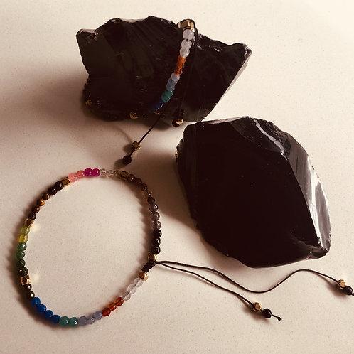 Chakra Gemstone bracelet - Small size