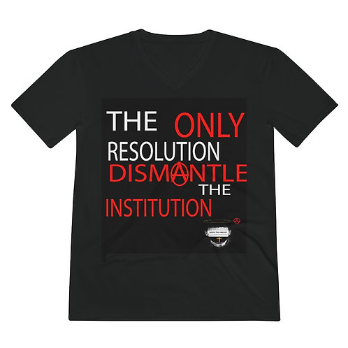 Men's Dismantle The Institution V-Neck  Ultra Cotton Tee