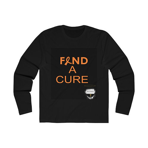 Men's Find a cure Long Sleeve Crew Tee
