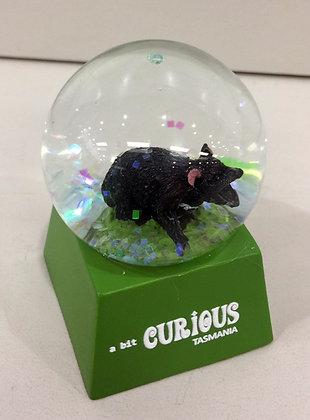 A Bit Curious Tasmanian Devil Mini Snow Globe