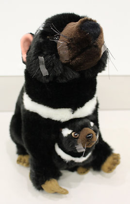 Tasmanian Devil Ebony and Zippy Plush