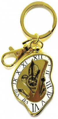 Disney Alice through the Looking Glass Melting Clock Pewter Keychain