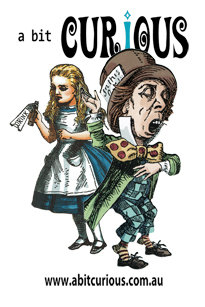 A Bit Curious Mad Hatter & Alice Fridge Magnet