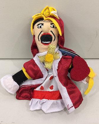 Alice in Wonderland Queen of Hearts Magnetic Finger Puppet