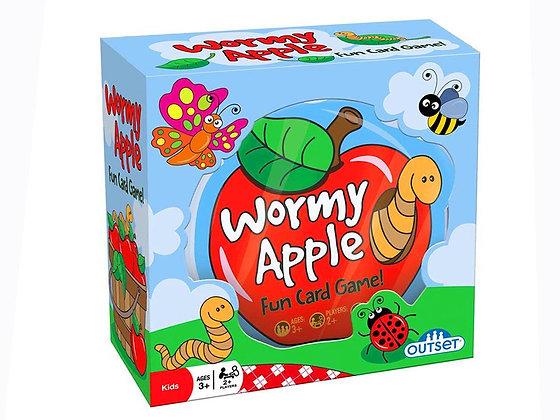 Wormy Apple Fun Card Game