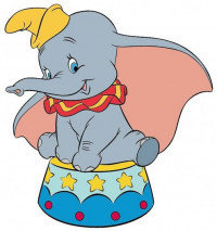Disney Dumbo Soft Touch Magnet
