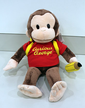 Curious George 44cm Plush Toy with Backpack