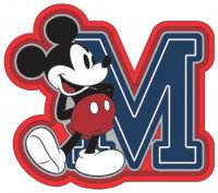 Disney Mickey Mouse M Fridge Magnet