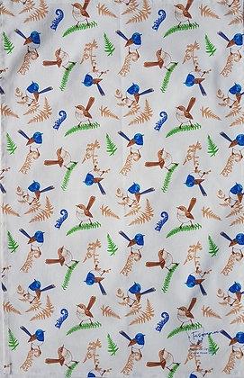 Heritage Isle Scattered Blue Wrens Tea Towel