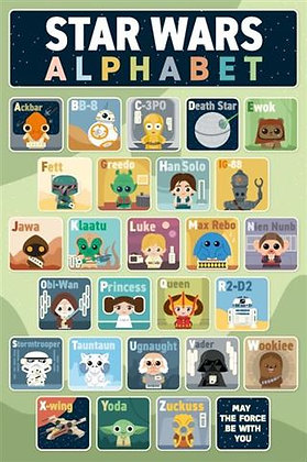 Star Wars Classic Alphabet Wall Poster