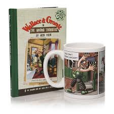 Wallace and Gromit Wrong Trousers Book and Mug Set